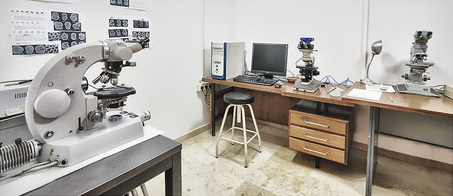 Laboratorio de microscopia especializada